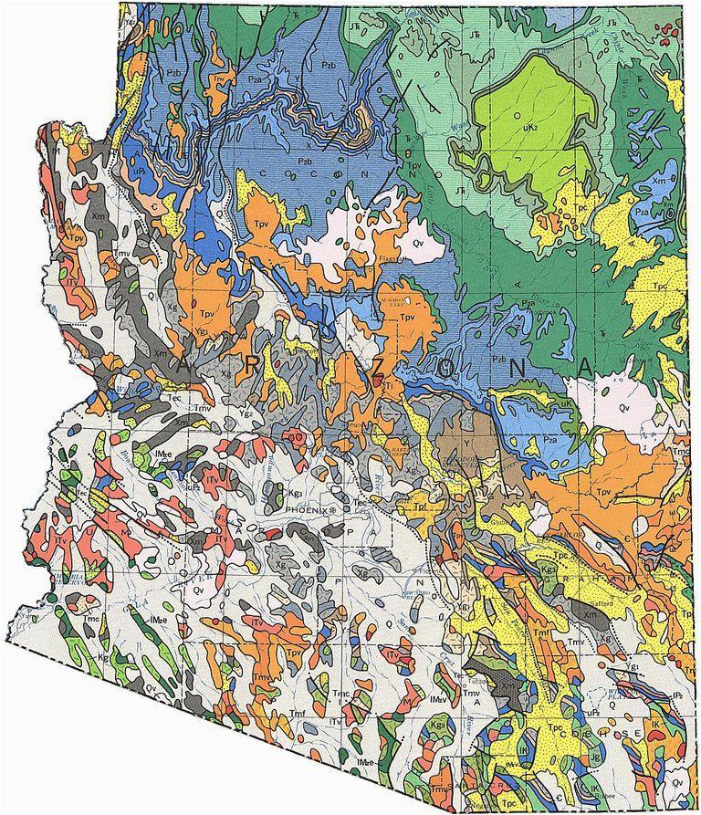 Colorado Gemstone Map Geologic Maps Of the 50 United States