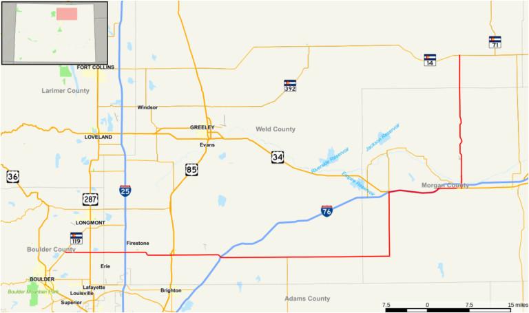 photo regarding Printable Map of Colorado named Colorado Mile Marker Map greatest Colorado Street Map Photographs
