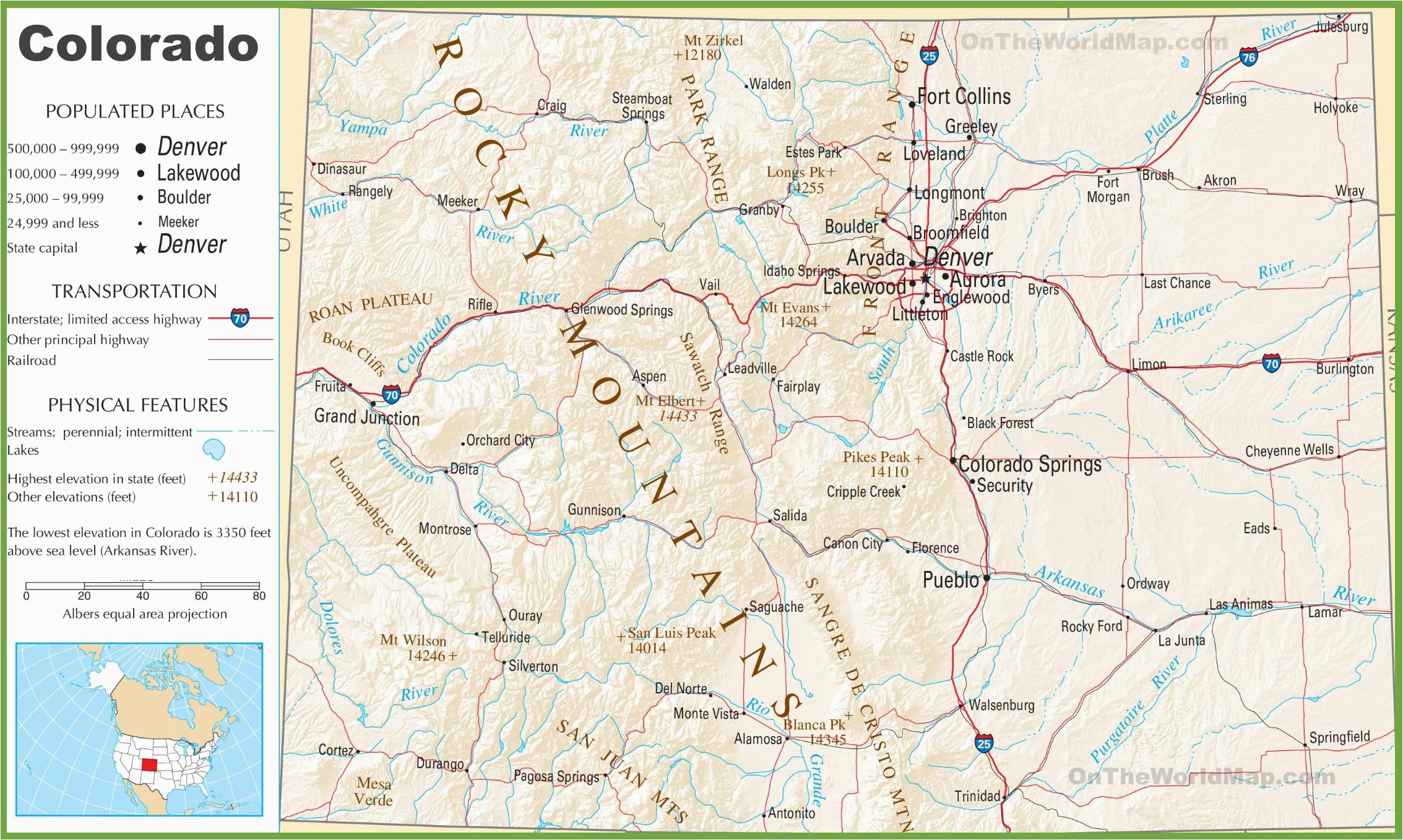 Colorado Mile Marker Map top Colorado Highway Map Photos ...