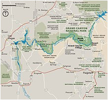 Colorado River Map Grand Canyon Grand Canyon National Park Wikipedia