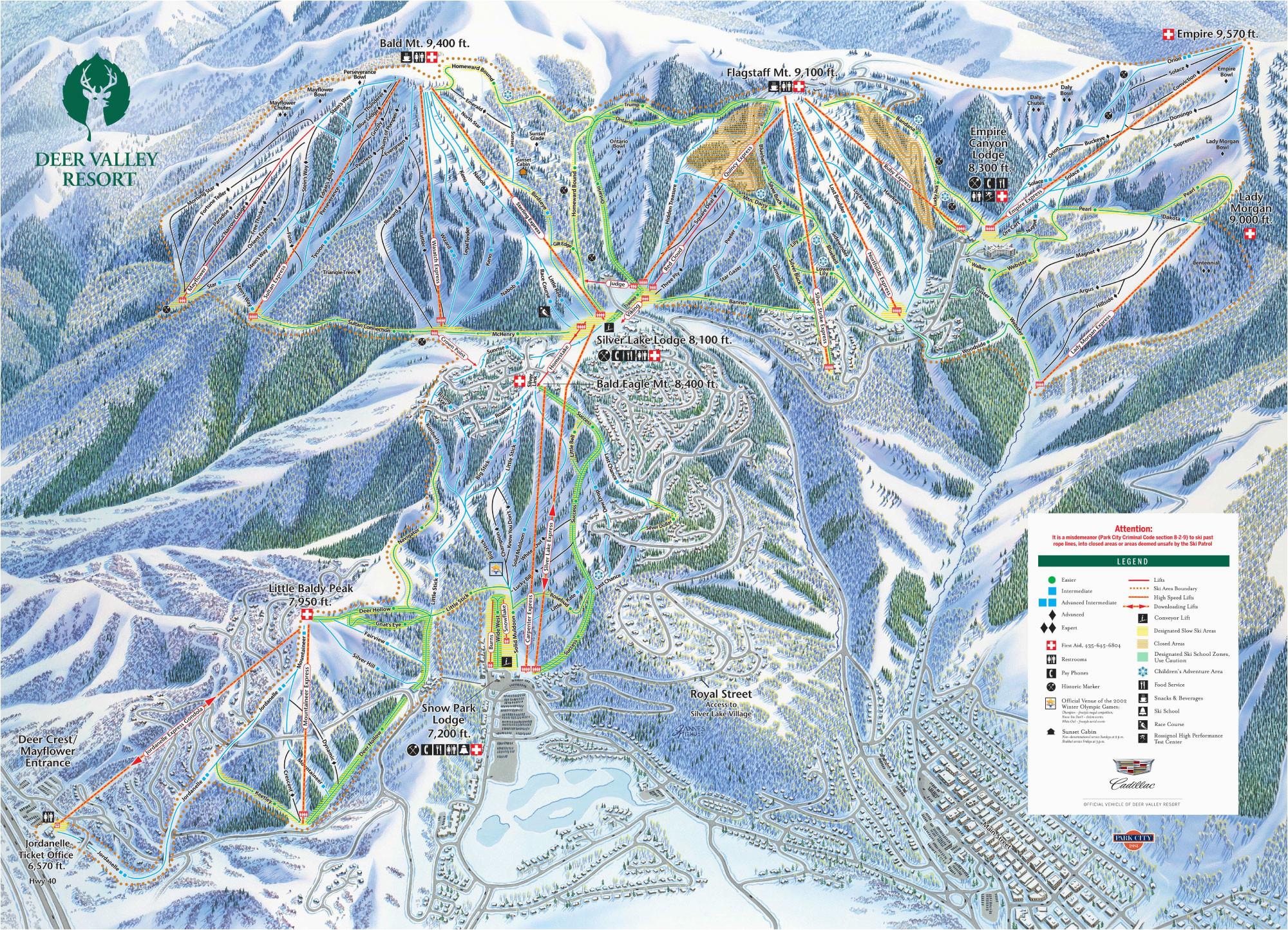 trail maps for each of utah s 14 ski resort ski utah
