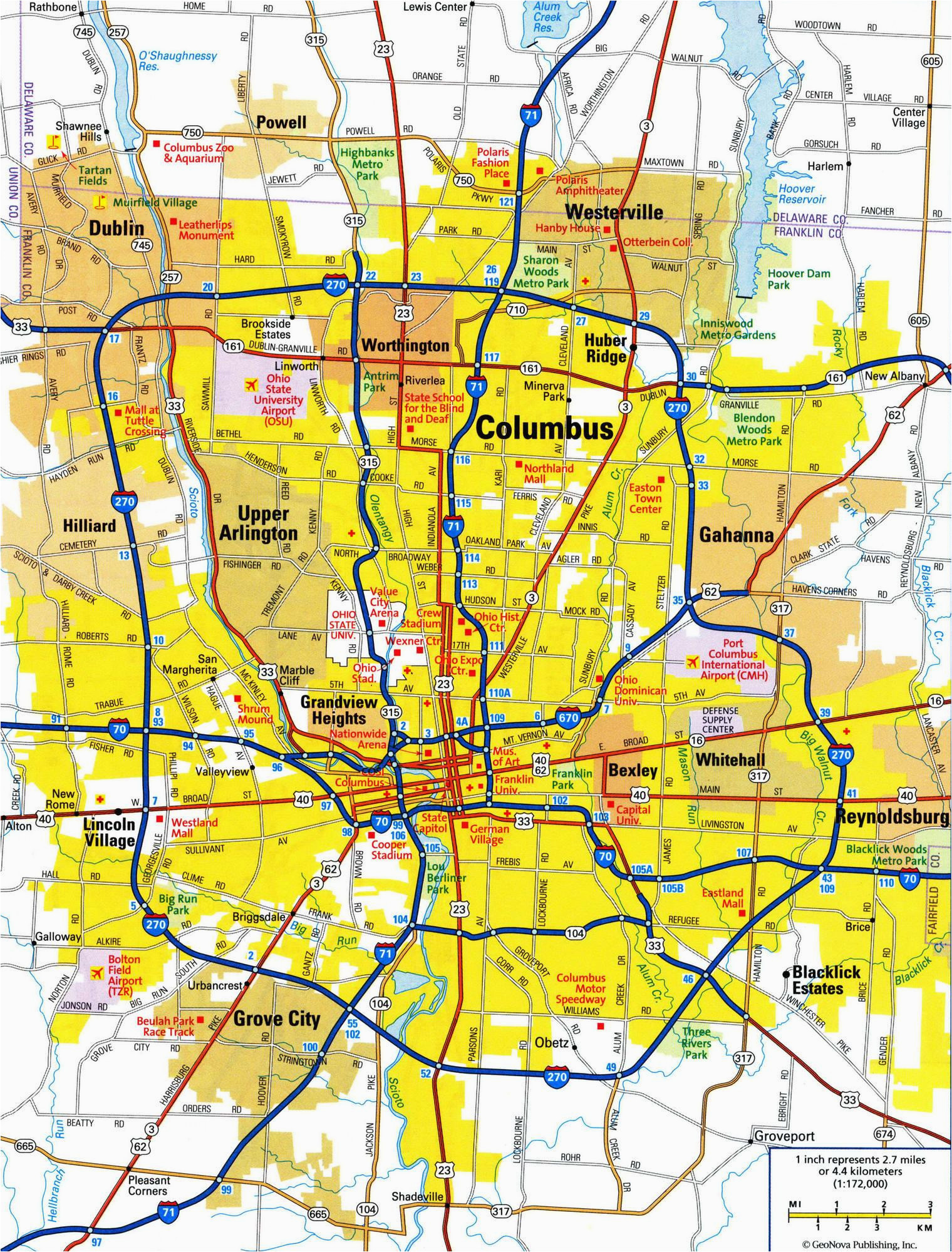 best map of columbus ohio pics printable map new bartosandrini com