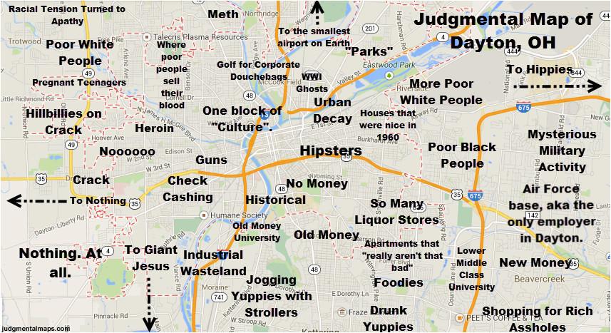 judgmental map of dayton ohio dayton