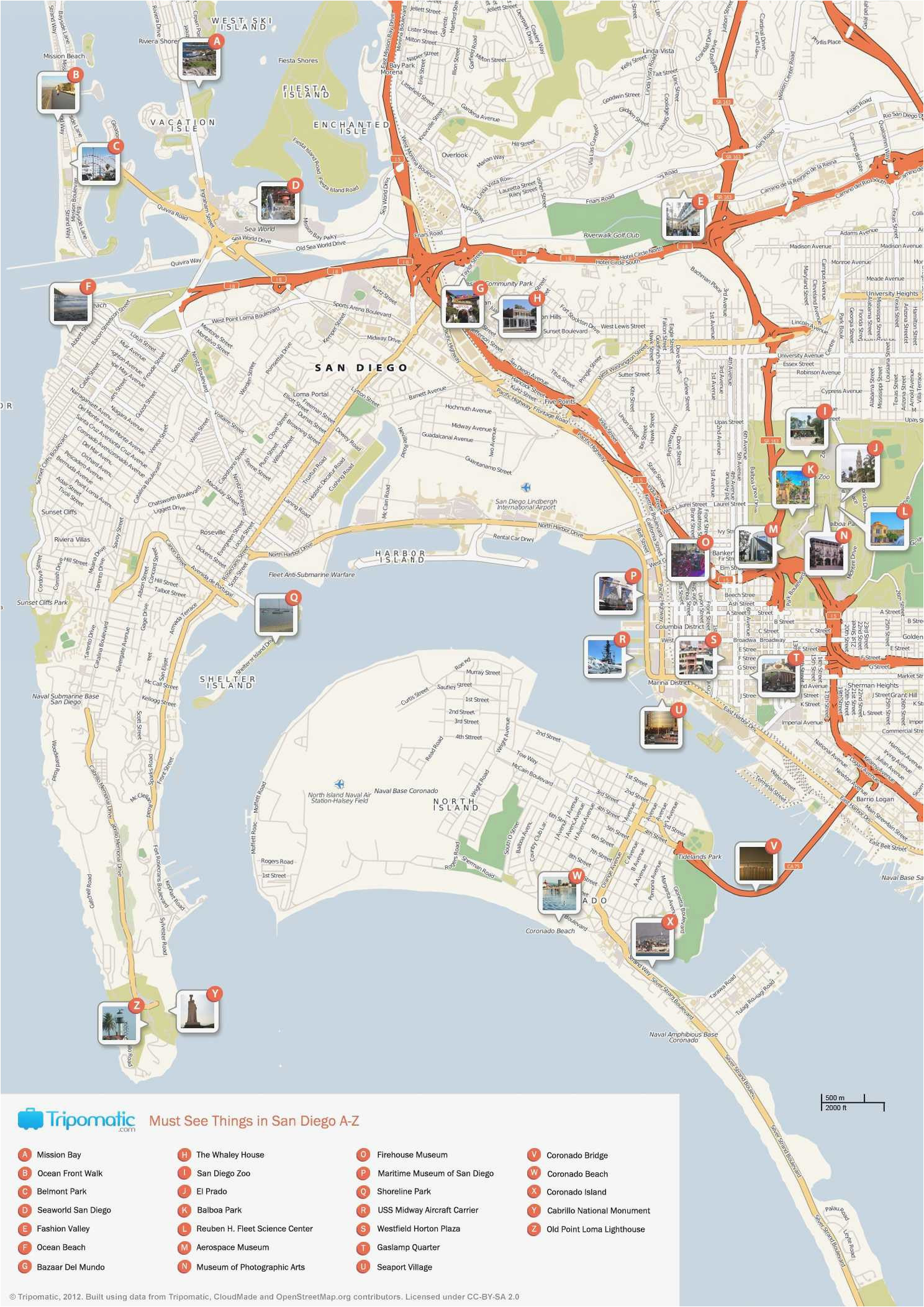 coronado island map geographic map of us