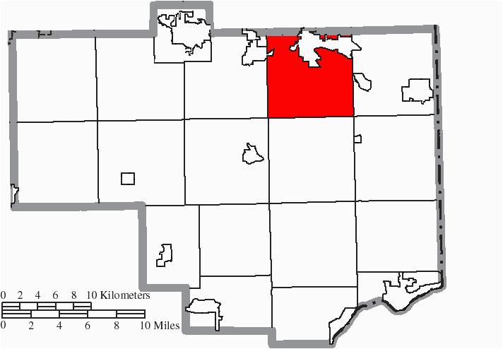 file map of columbiana county ohio highlighting fairfield township