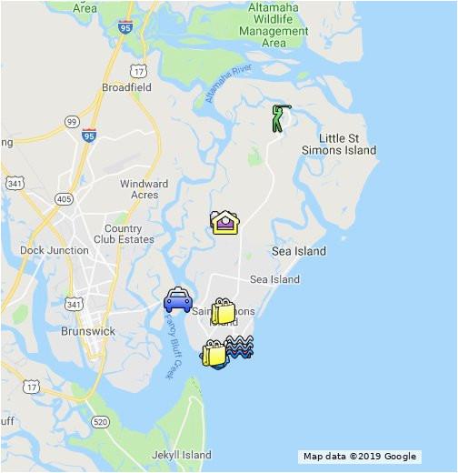 st simons island map google my maps