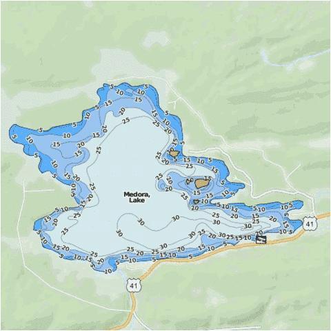 medora lake fishing map us mi 42 86 nautical charts app