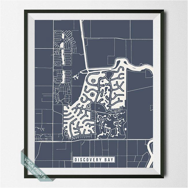discovery bay california street map print by voca prints modern