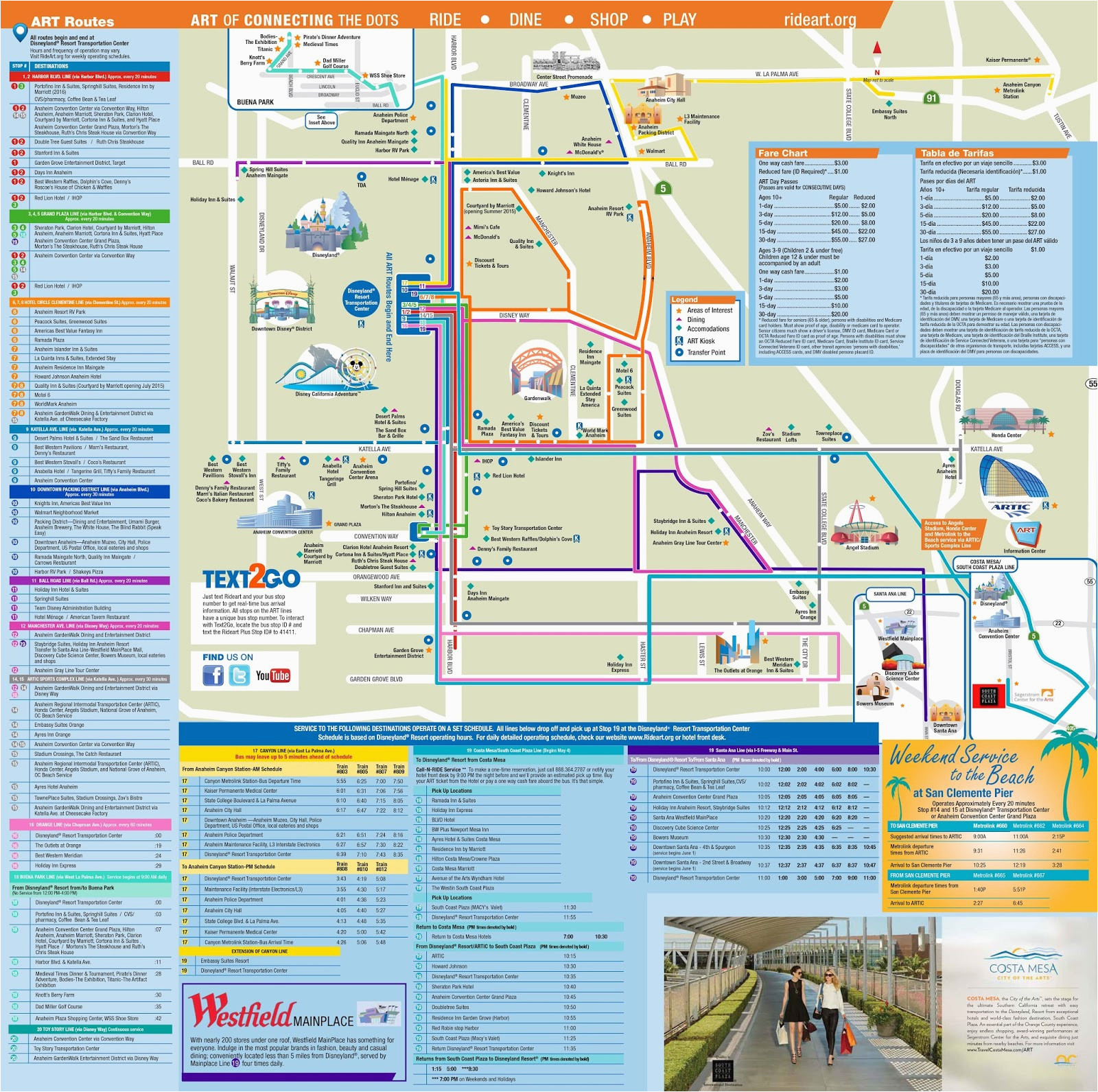downtown disney map california new map around disneyland
