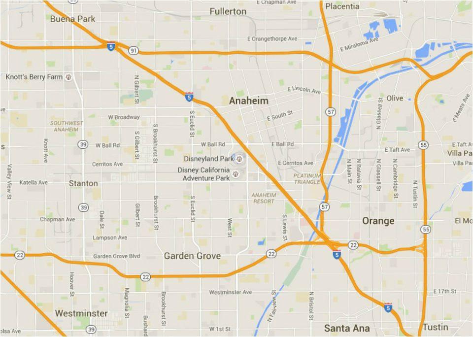 maps of disneyland resort in anaheim california
