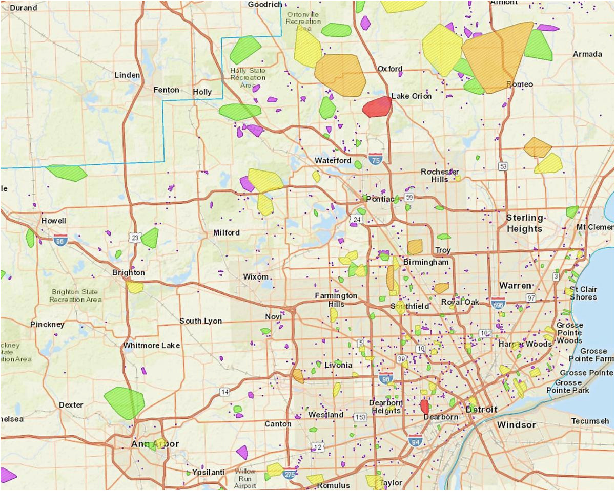 Dte Michigan Power Outage Map Most Power Outages Should Be ...