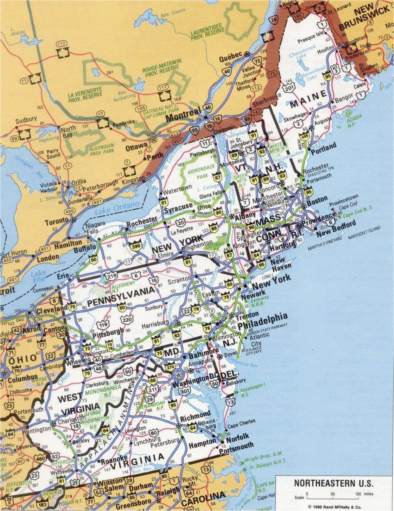 Eastern Ohio Map Us East Coast Interstate Map Best Map Eastern ...