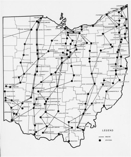 Elyria Ohio Map Pin by Lois Kruckenberg On Ohio History Underground Railroad