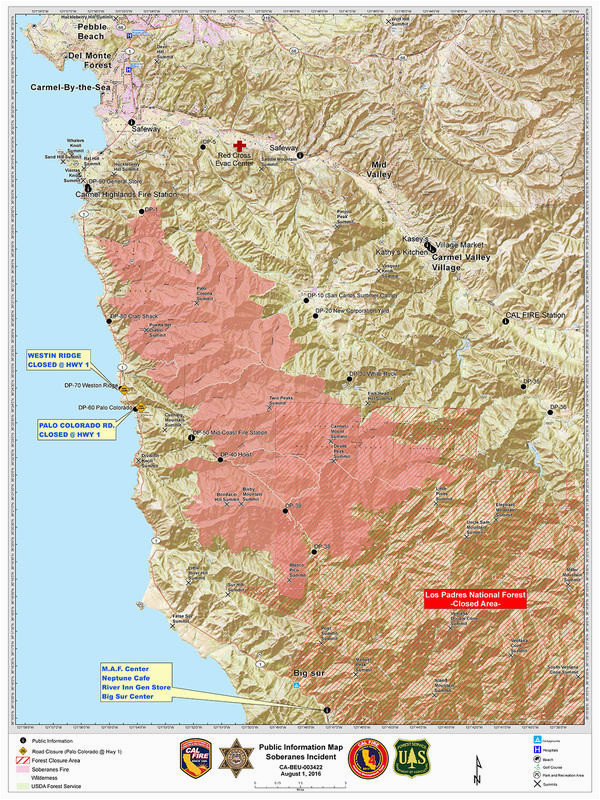 soberanes fire updates 132 127 acres 100 contained 90 3 kazu