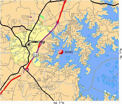map of forsyth county nc inspirational zip code cumming georgia