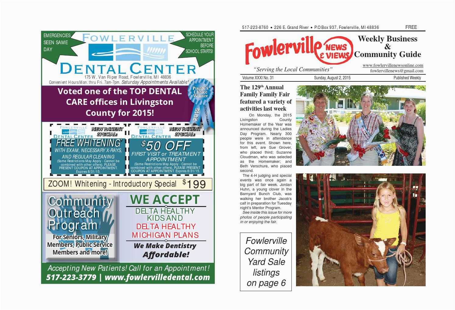 fowlerville news views online august 2 2015 by steve horton issuu