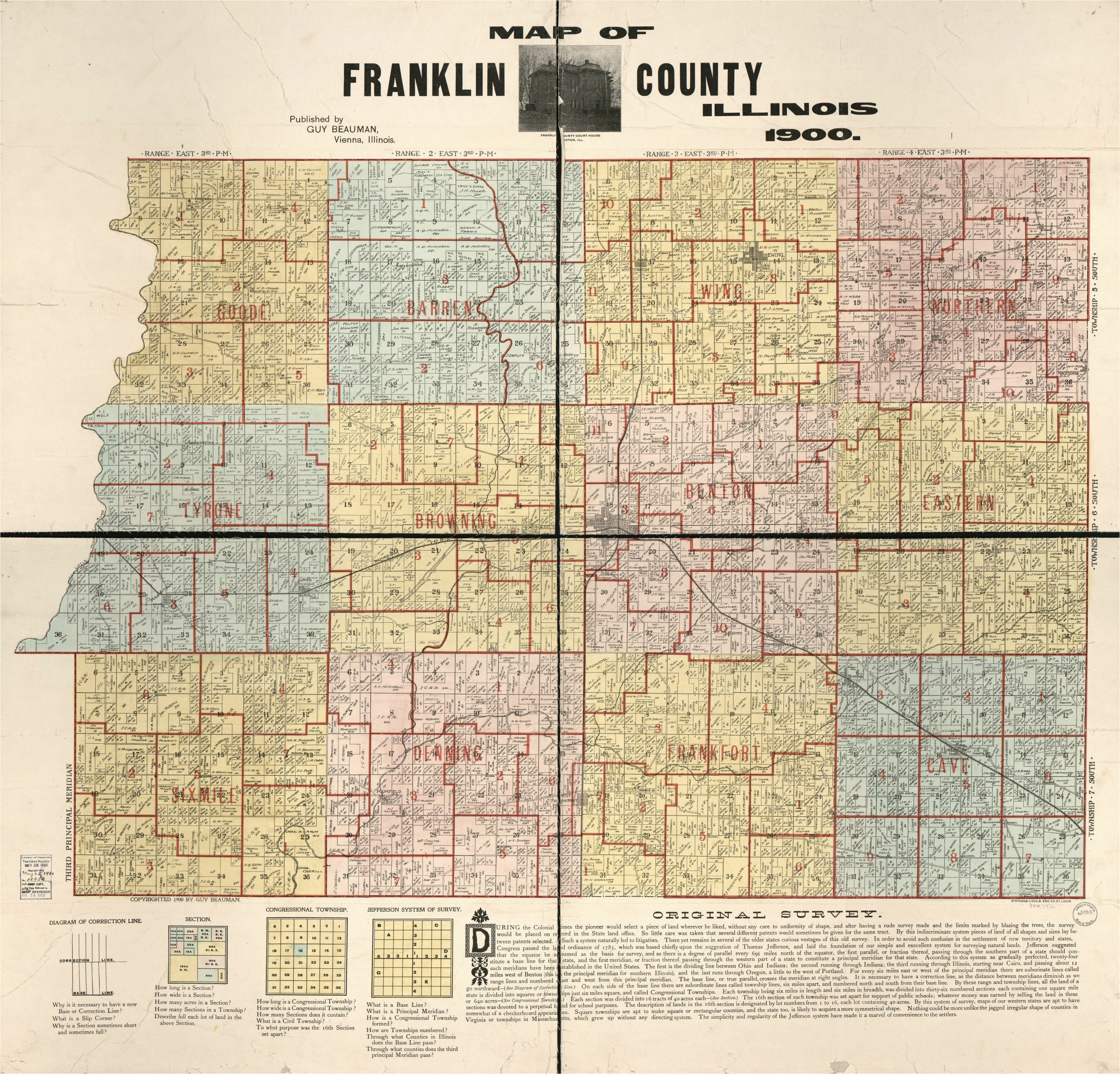 map franklin county franklin county library of congress