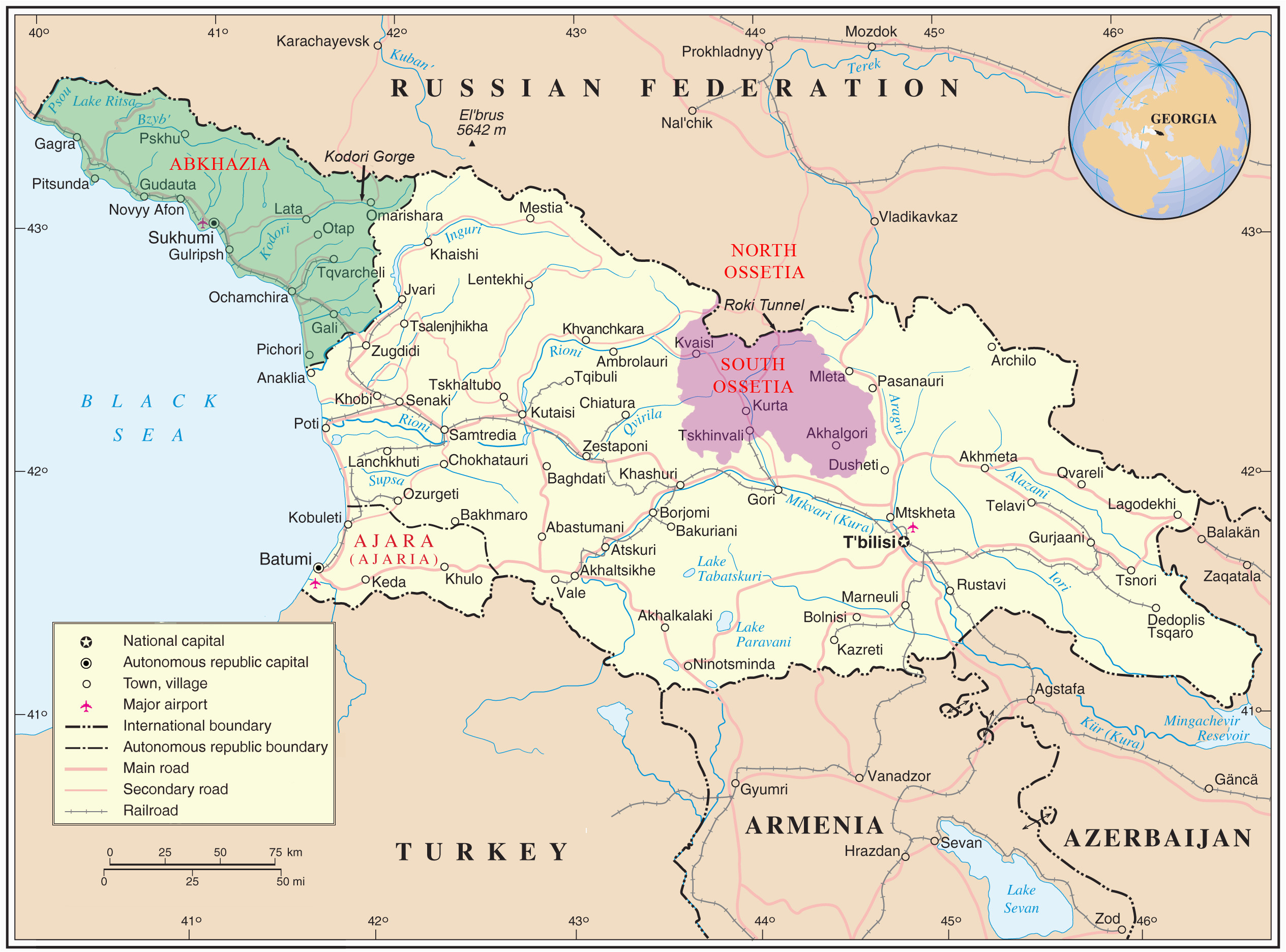 graphic about Printable Maps of Georgia identified as Ga the Place Map final in which is Tbilisi Ga Upon