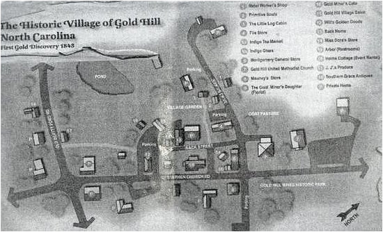 village map picture of gold hill mines historic park gold hill