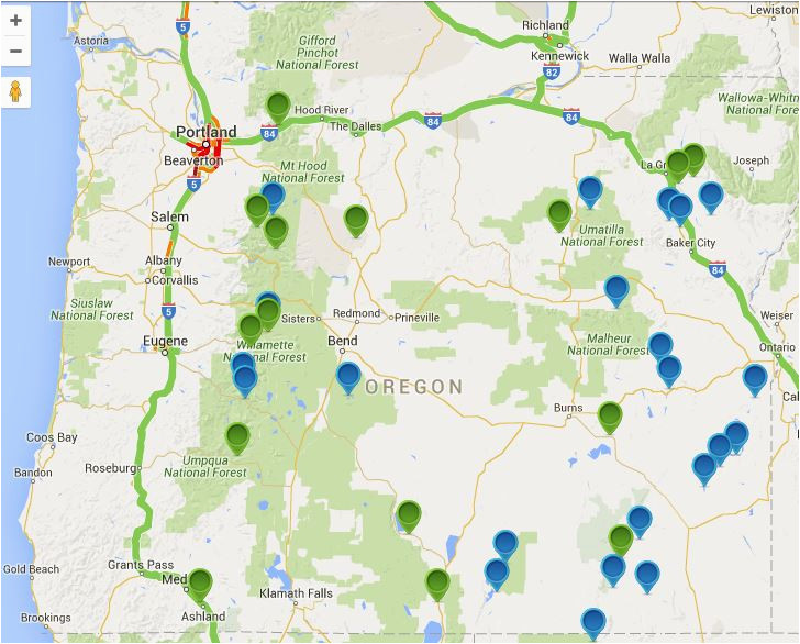 oregon hot springs map oregon discovery