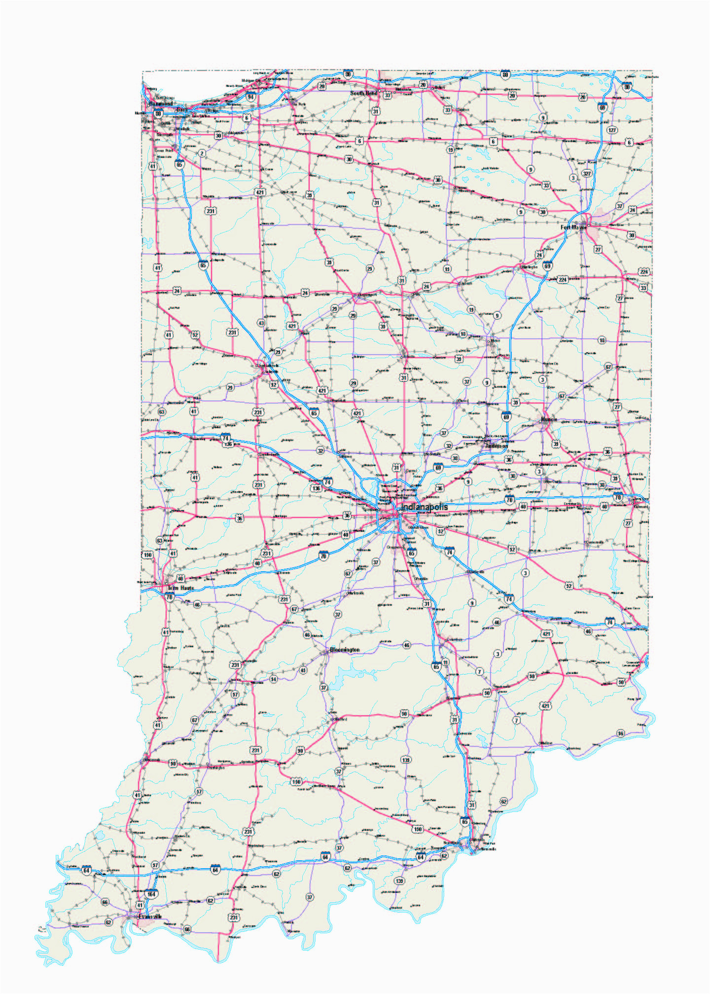 indiana maps indiana map indiana road map indiana state map