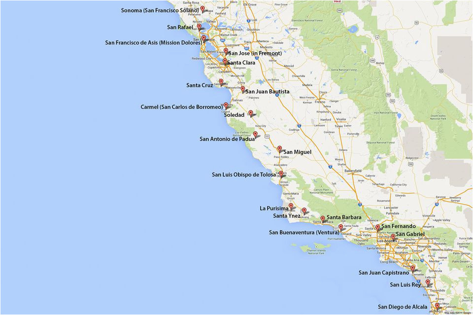 Map Of California La.La Canada California Map Maps Of California Created For Visitors And