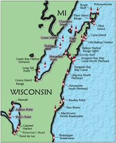 117 best wisconsin lighthouses images