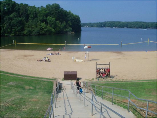 view of swiming area from top of the stairs picture of lake norman