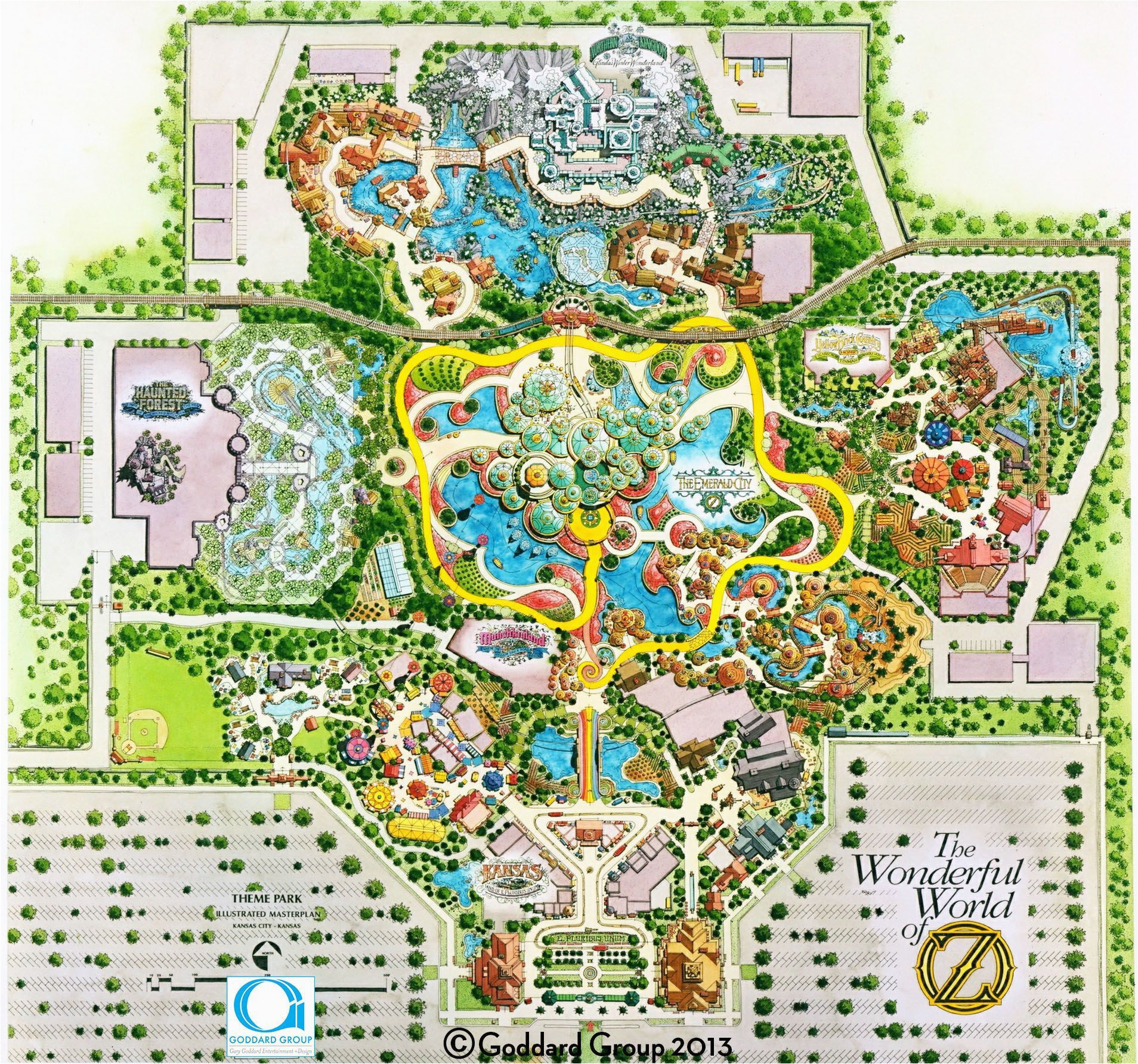 image result for site plan theme park themed design best california