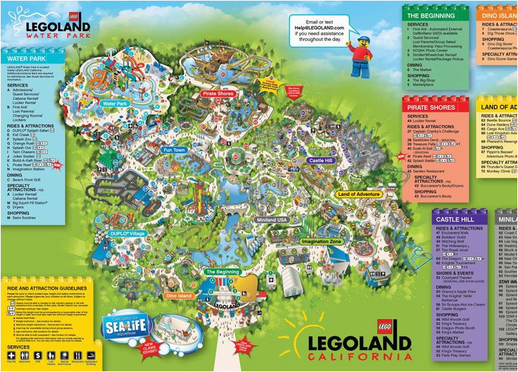 legoland california map maps directions