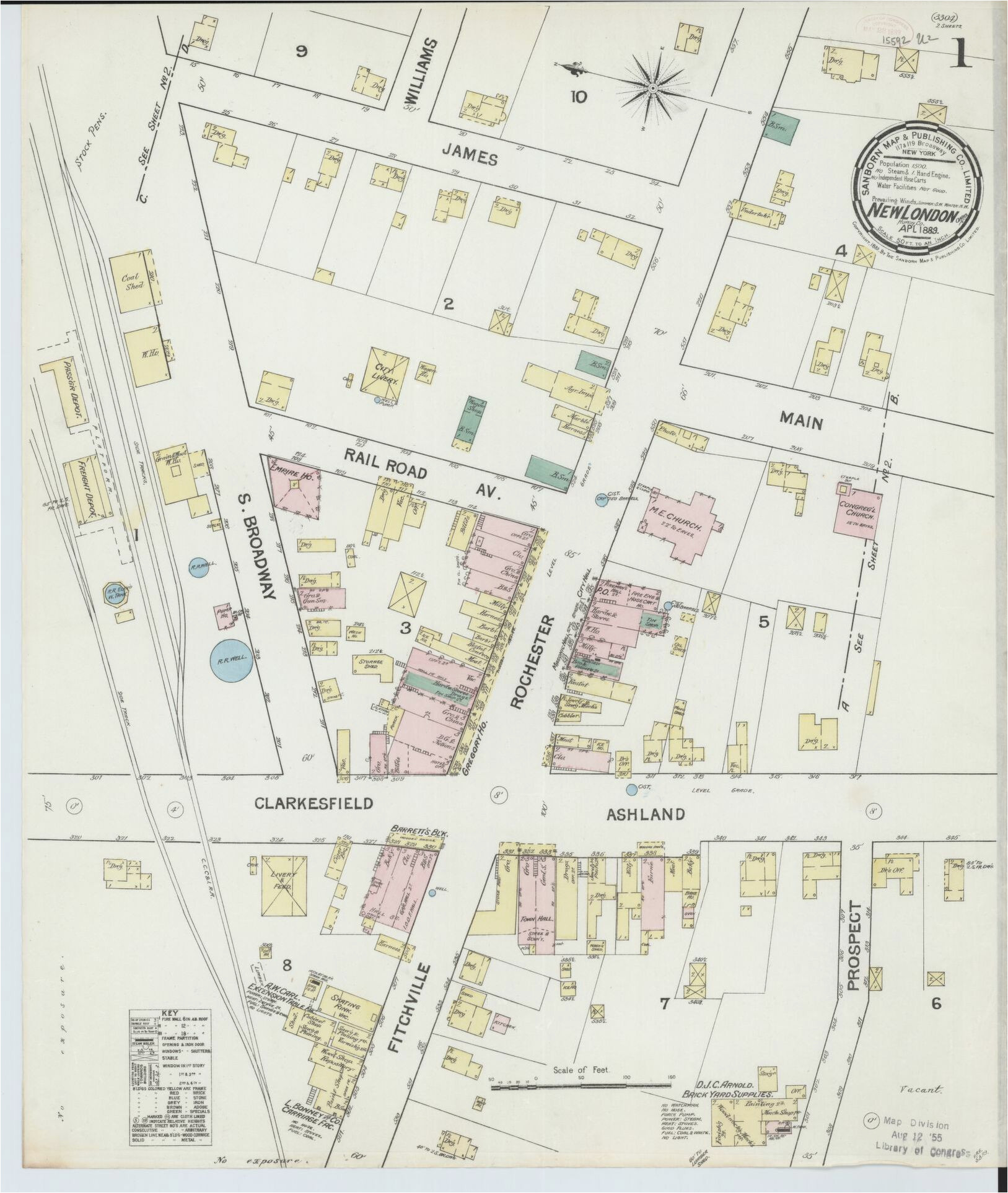 sanborn maps 1889 ohio library of congress