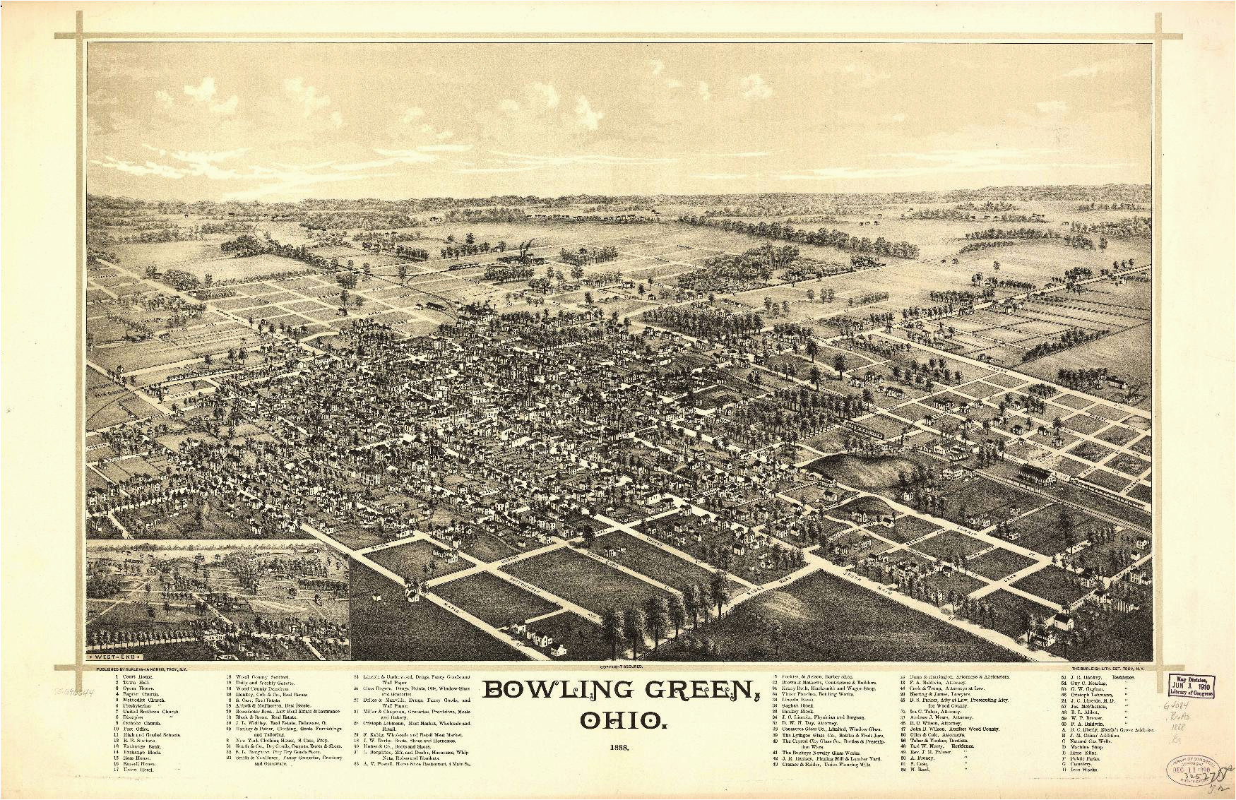 ohio vintage panoramic maps collection on cd ebay