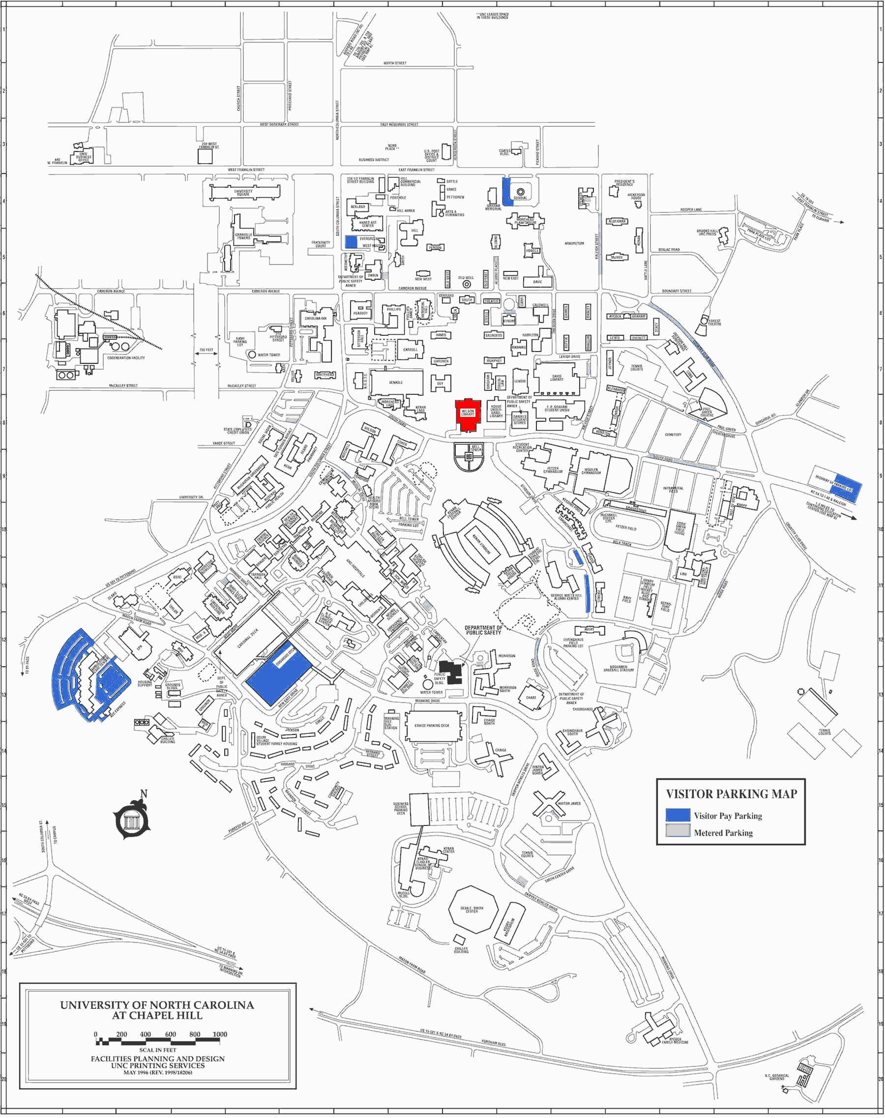 Map Chapel Hill North Carolina Secretmuseum