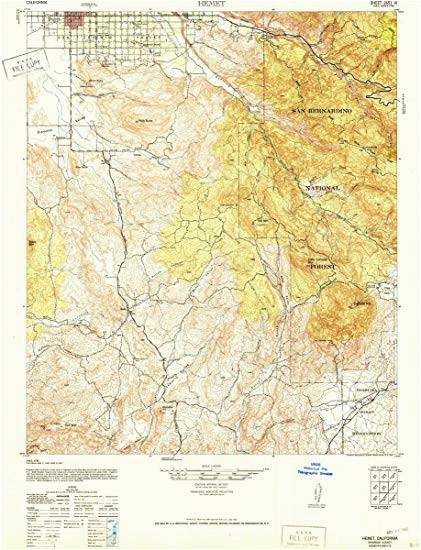 amazon com 1942 hemet ca usgs historical topographic map fine