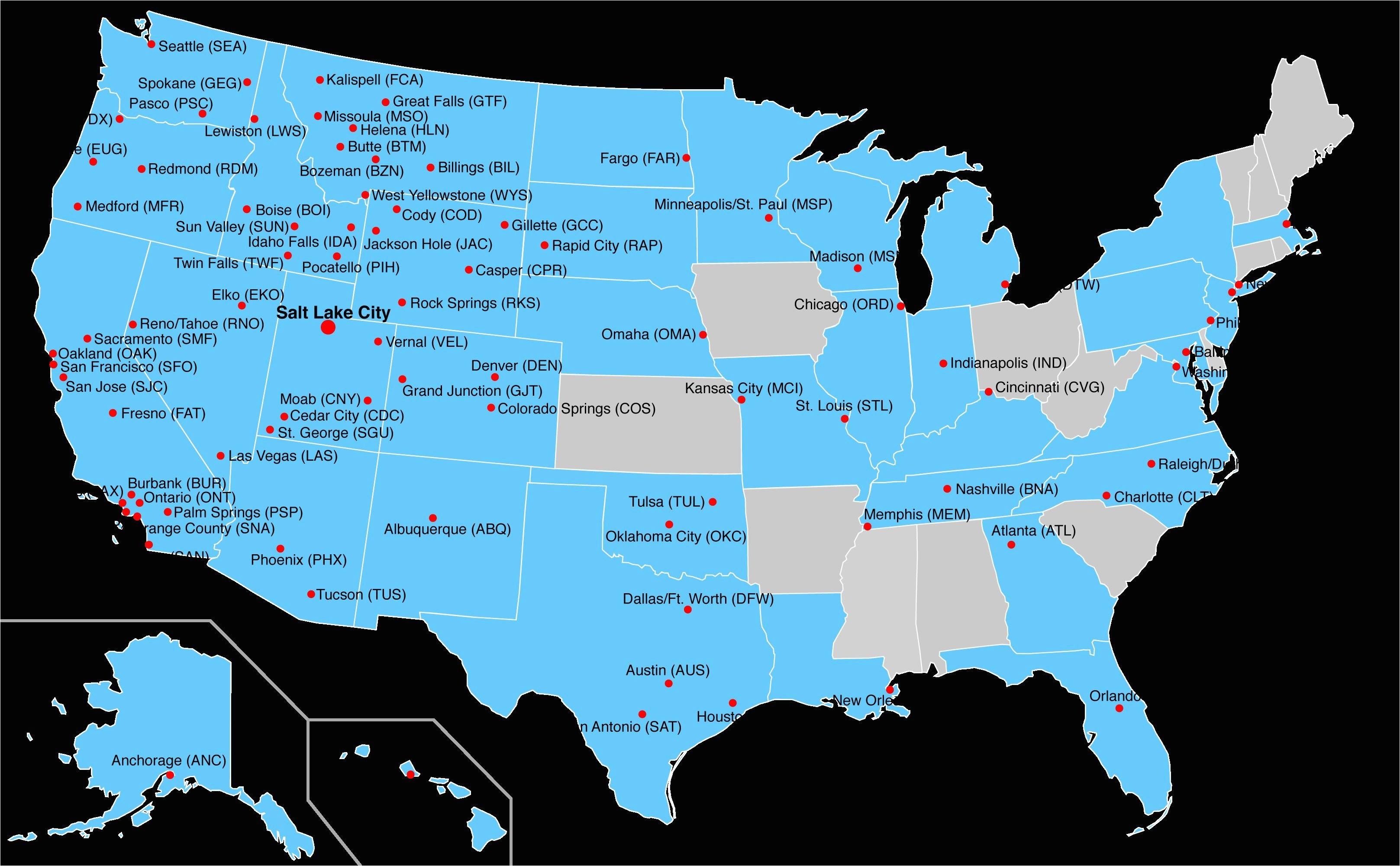 Map Of Airports In southern California Map Of Airports In ...