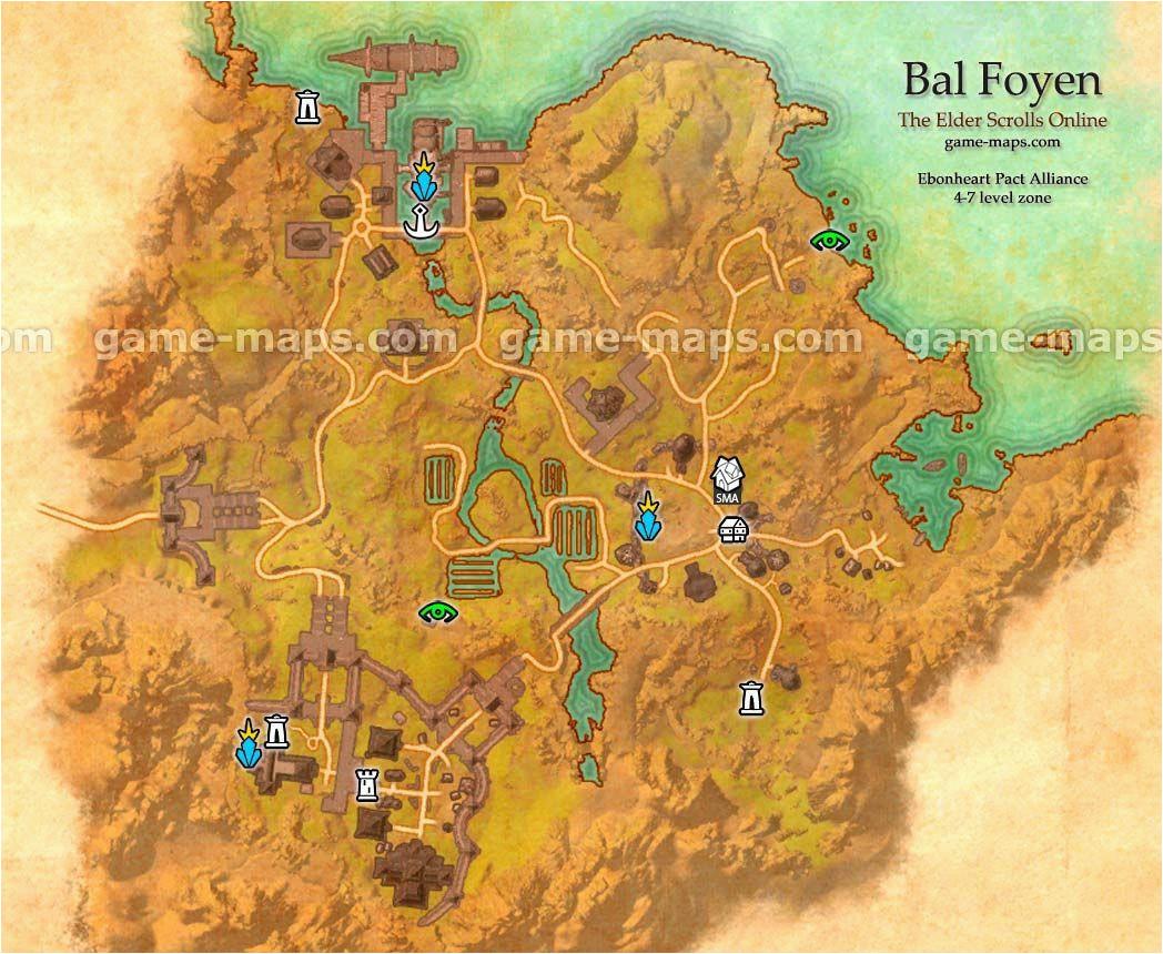 Map Of Alliance Ohio Bal Foyen Zone Map Coastal City In Ebonheart Pact Alliance Near