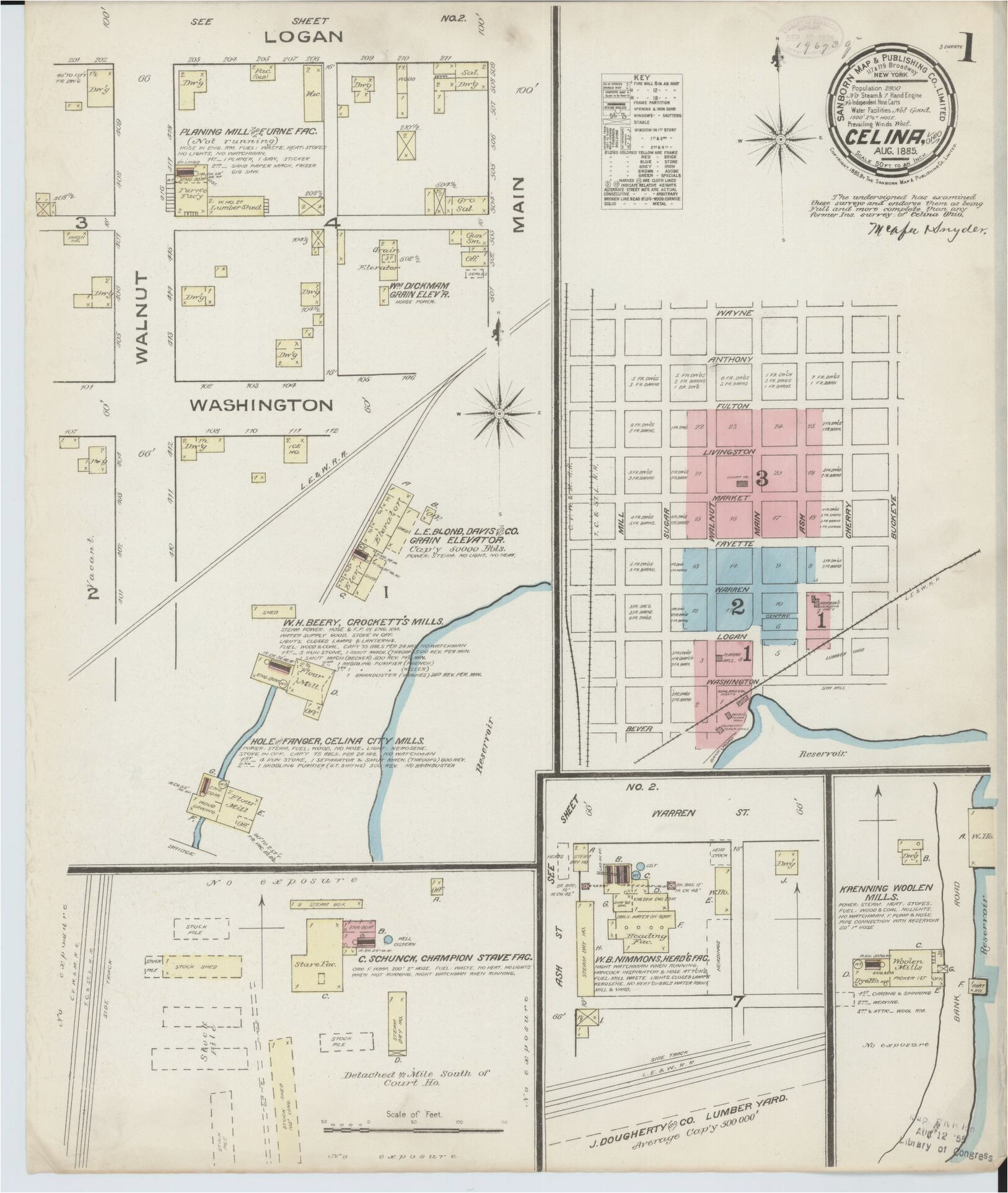 sanborn maps 1880 to 1889 ohio american memory library of congress