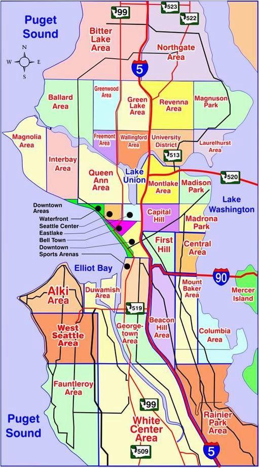 map of seattle washington neighborhoods many of our neighborhoods