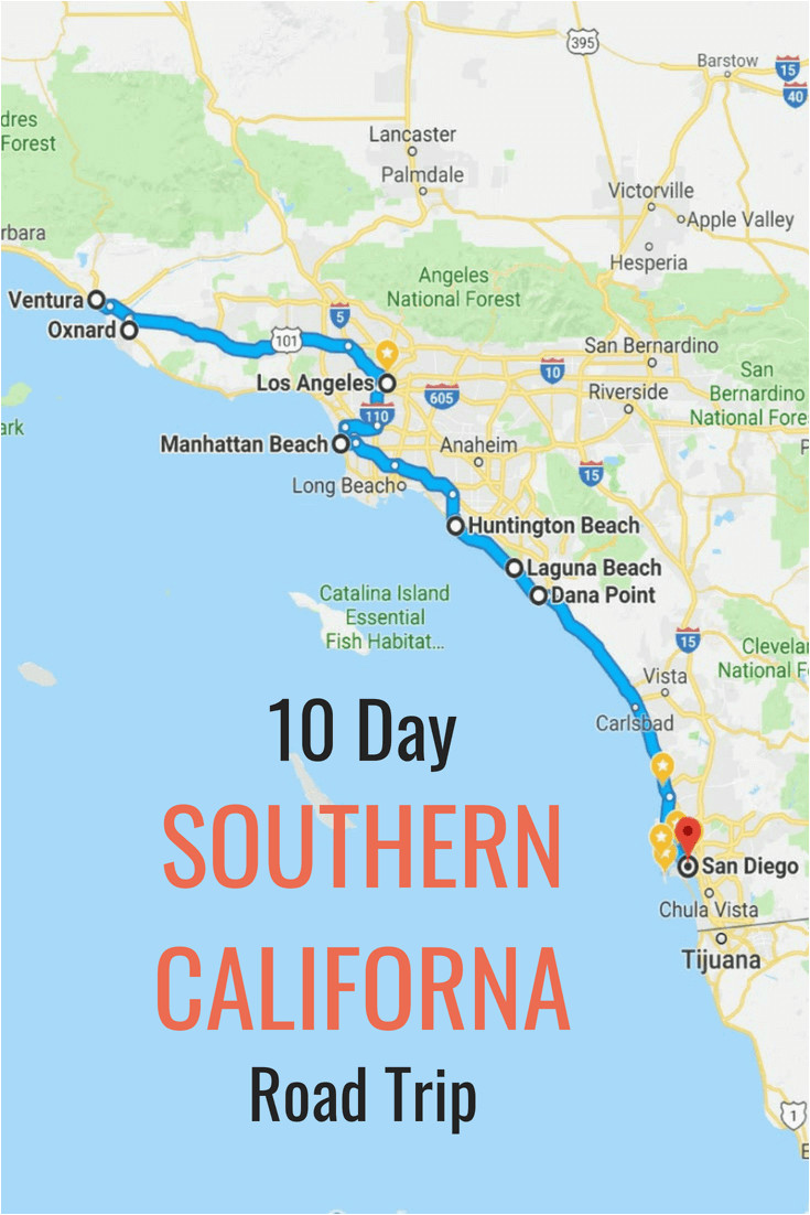 10 day itinerary best places to visit in southern california