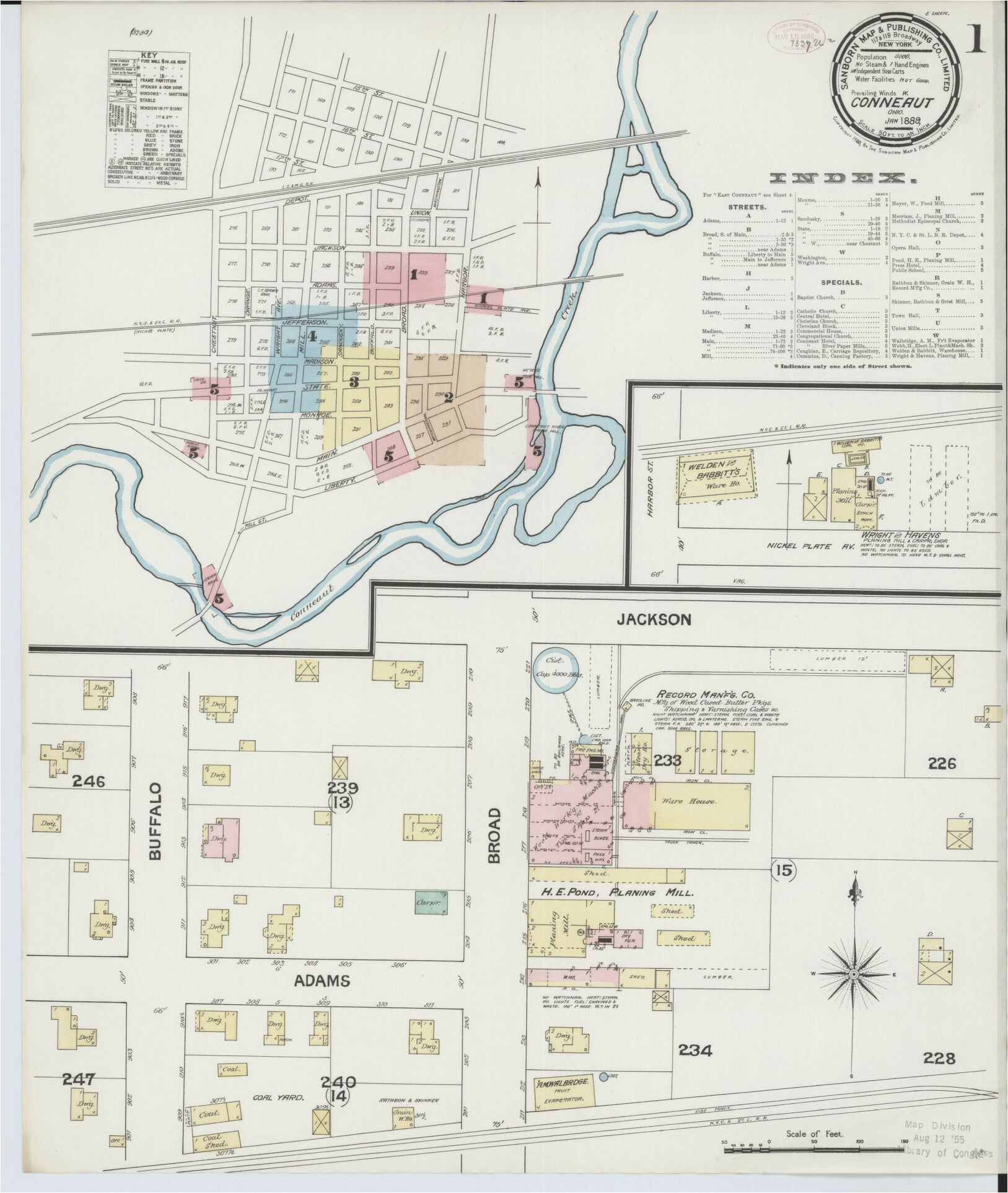 map 1880 to 1889 ohio image library of congress