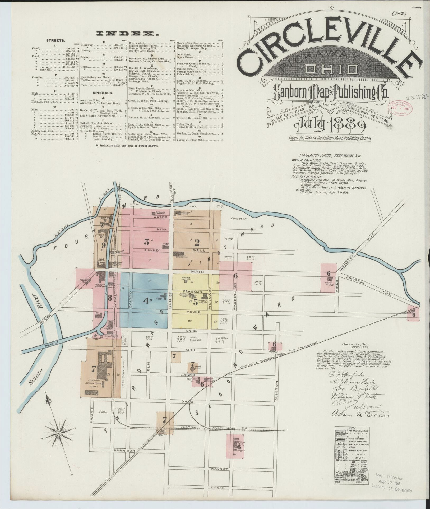 sanborn maps 1880 to 1889 ohio library of congress