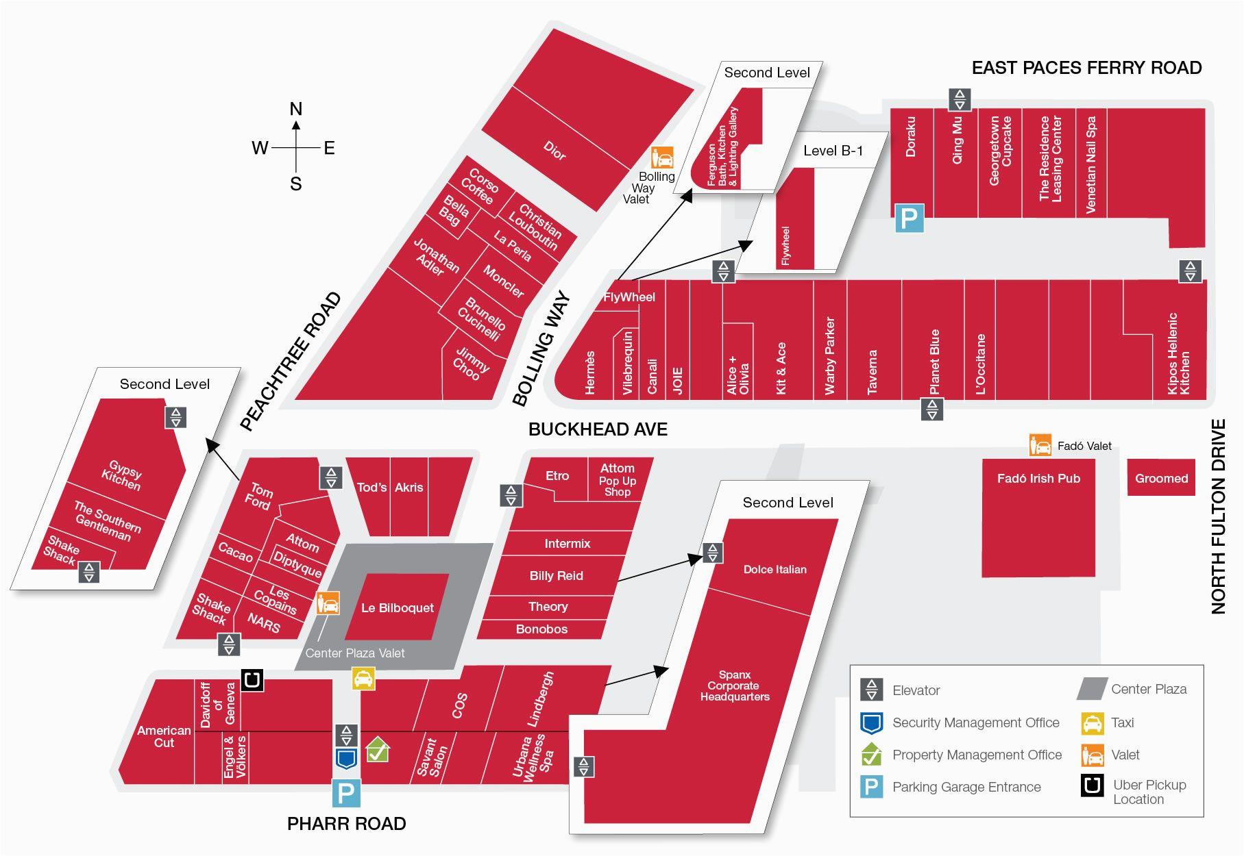 visit buckhead atlanta map and directions shopping in metro