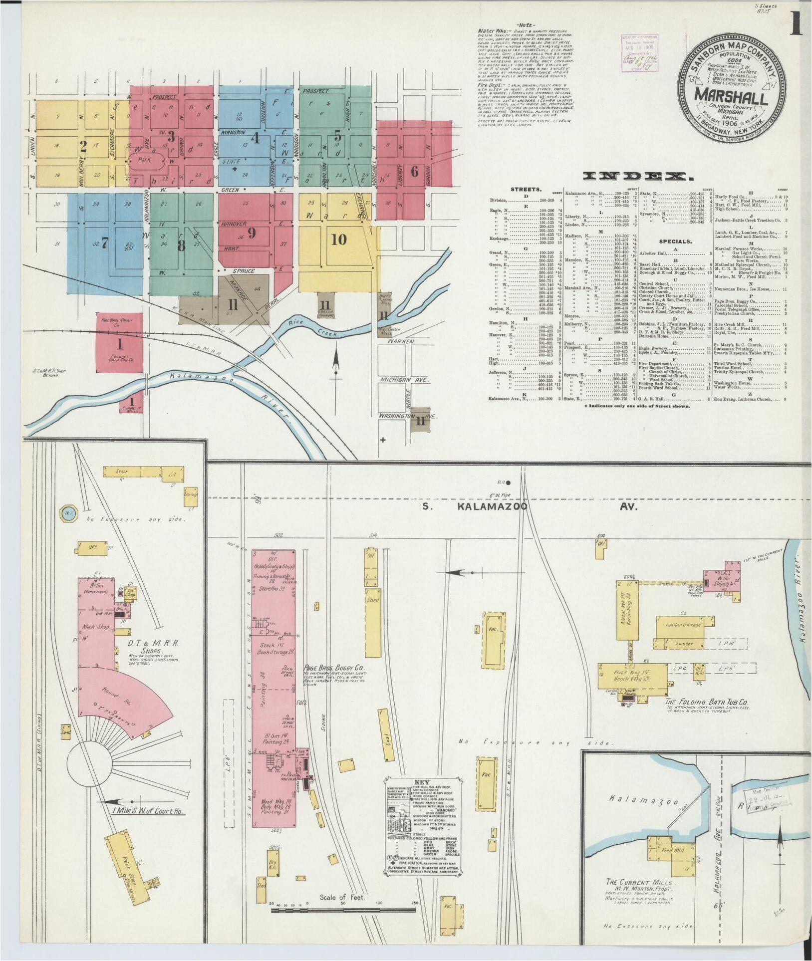 map michigan calhoun county library of congress