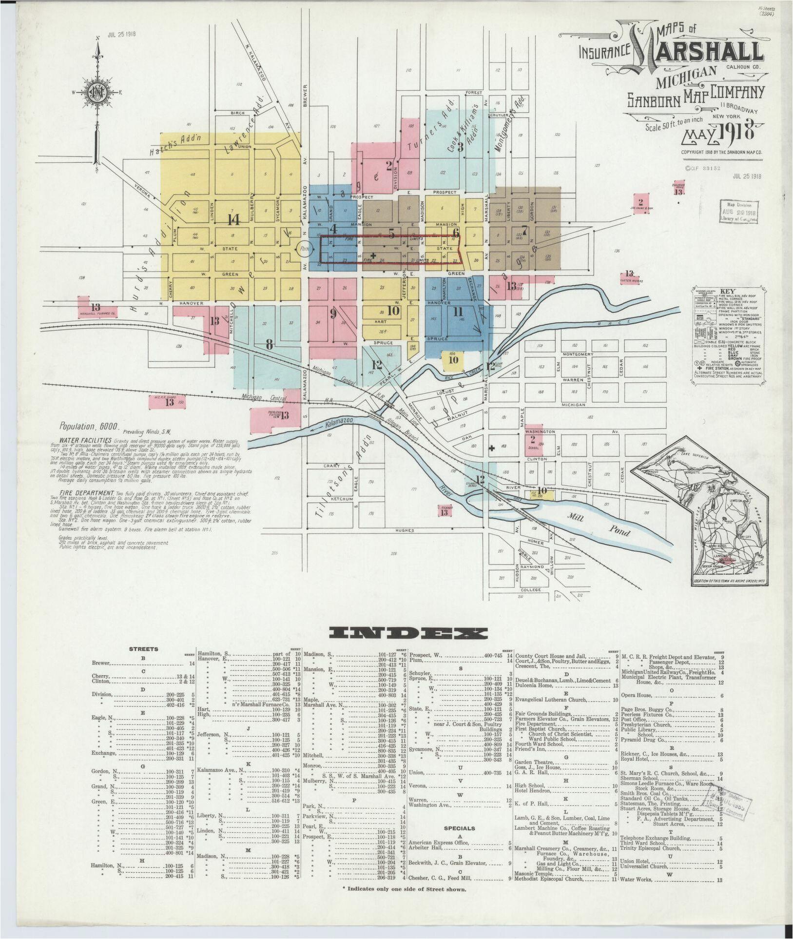 sanborn maps michigan calhoun county library of congress