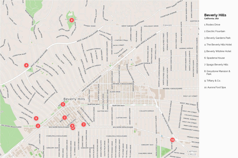 map of beverly hills california klipy org