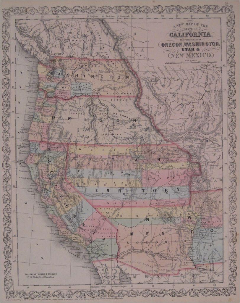 map of california oregon and washington ettcarworld com