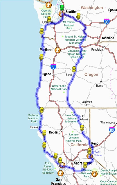 map of oregon and california lovely prospect oregon map maps