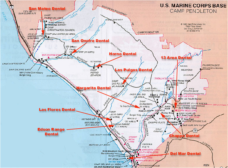 Map Of Camp Pendleton Map Of Camp Pendleton California | secretmuseum