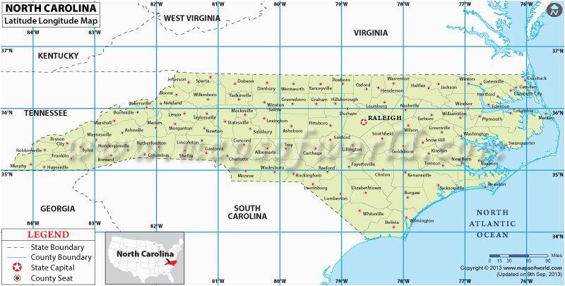 north carolina latitude and longitude map projects to try