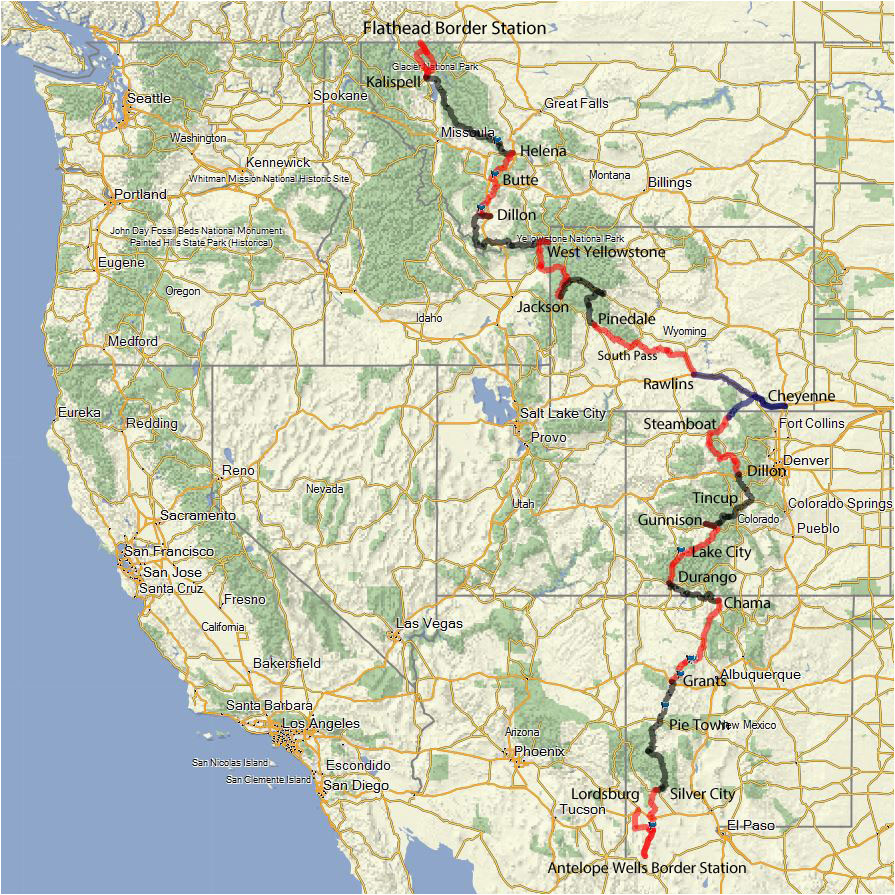 big sky trail map lovely efacbfe o d fresh continental divide trail